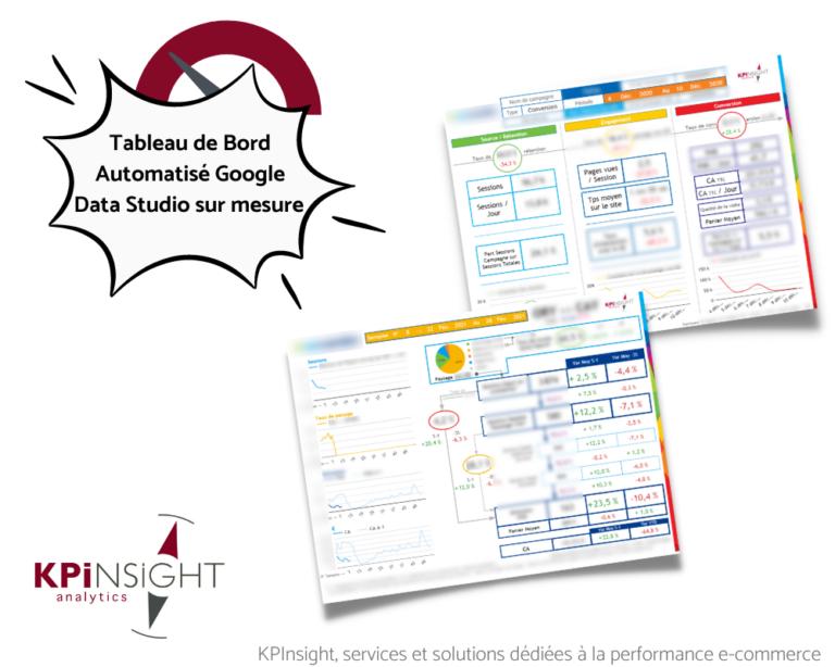 Exemple prestation KPInsight Tableau de bord Data Studio